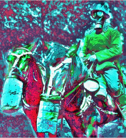 German Horse Soldier WWI Sticker