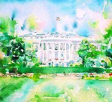 WHITE HOUSE - watercolor portrait by lautir
