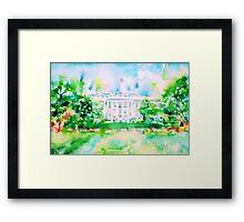 WHITE HOUSE - watercolor portrait Framed Print