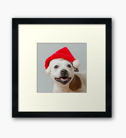 Sumi-e Christmas cushion Framed Print