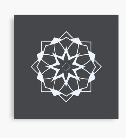 Mandala #218 || Chalk Canvas Print