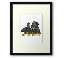 Sweet LOTR Framed Print