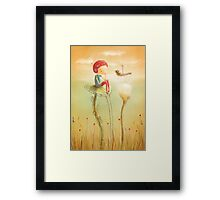 Early morning meeting Framed Print