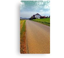 Country road into vibrant scenery | landscape photography Canvas Print