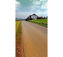 Country road into vibrant scenery | landscape photography Photographic Print