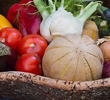 summer fruit in the basket by spetenfia