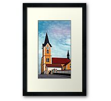 The village church of Herzogsdorf I | architectural photography Framed Print