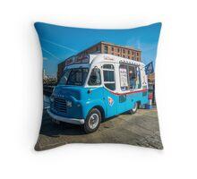 a classic Ice-cream car Throw Pillow