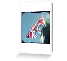 Flags - Union Jacks in a blue sky Greeting Card
