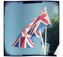 Flags - Union Jacks in a blue sky Poster