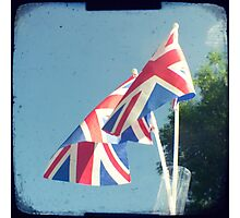 Flags - Union Jacks in a blue sky Photographic Print