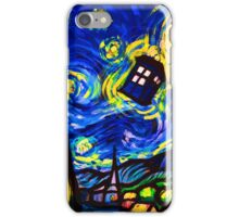 tardis starry night work art  iPhone Case/Skin