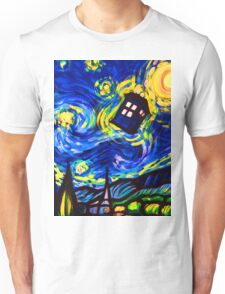 tardis starry night work art  Unisex T-Shirt