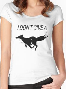 I DONT GIVE A FOX - black - version 1 Women's Fitted Scoop T-Shirt