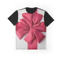 Gift Box with Red Bow Graphic T-Shirt
