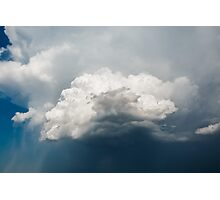 Blue Sky with Stormy Clouds Photographic Print