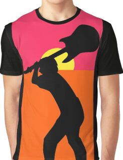 Pop Art Guitar Smash Endless Graphic T-Shirt
