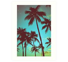 Vintage Tropical Palms Art Print
