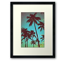 Vintage Tropical Palms Framed Print