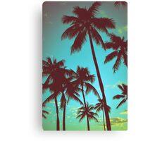 Vintage Tropical Palms Canvas Print