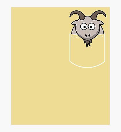 Pocket Animal Cartoon, Cute Goat Photographic Print