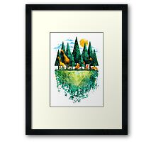 Geo Forest Framed Print