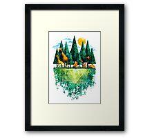 Geo Forest Framed Print