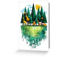 Geo Forest Greeting Card
