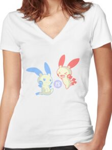 Minus is Plusle (Less is More) V3 Women's Fitted V-Neck T-Shirt