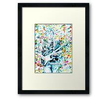 ERIC CLAPTON - watercolor portrait Framed Print