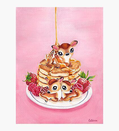 Three Pancake Deer Photographic Print