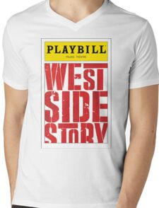 West Side Story Playbill Mens V-Neck T-Shirt