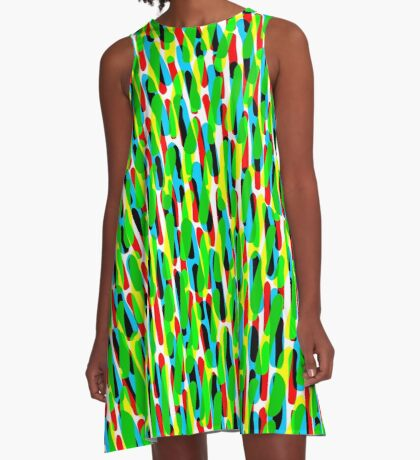 Colour Dashes 121216(02) A-Line Dress