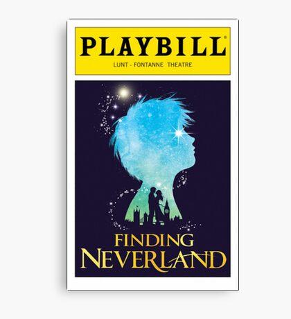 Finding Neverland Playbill Canvas Print