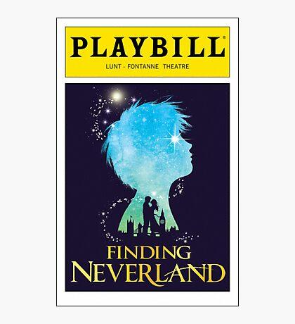 Finding Neverland Playbill Photographic Print