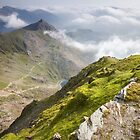 Wales - View from Snowdon by Celtic Mystery