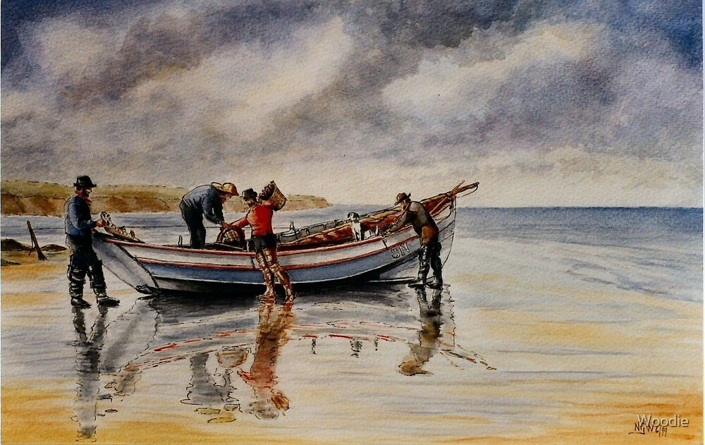 North Shields Coble c1900 by Woodie