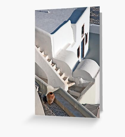 Steps Of Oia Greeting Card