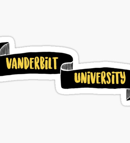 Vanderbilt Ribbon Sticker