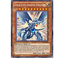 Blue Eyes Shining Dragon Photographic Print