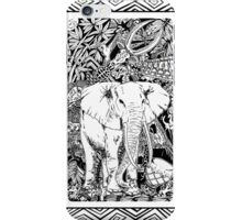 White Elephant Indian Ink Tribal Art iPhone Case/Skin
