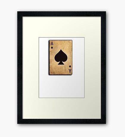 Ace of spades card poker pack Framed Print