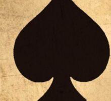 Ace of spades card poker pack Sticker