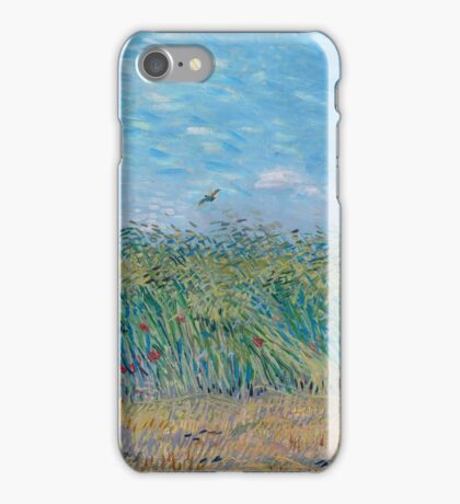 Vincent Van Gogh - Wheat Field With A Lark, 1887 iPhone Case/Skin