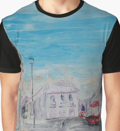 LONDON street palette knife painting by Ksavera Graphic T-Shirt