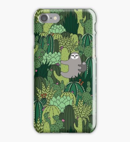 Cactus Sloth iPhone Case/Skin