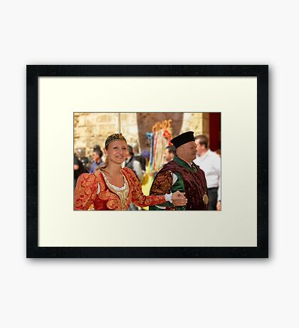 The Mayor And His Wife Framed Print