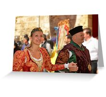 The Mayor And His Wife Greeting Card