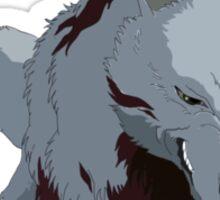 Princess Mononoke Wolf Sticker