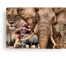 "A COLLAGE OF AFRICA'S ""BIG 5"" -  Canvas Print"